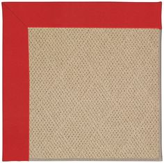 Zoe Cane Wicker Machine Tufted Red/Beige Area Rug