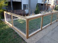 Image result for wood and wire fence