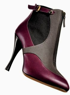 great purple and gray bootie