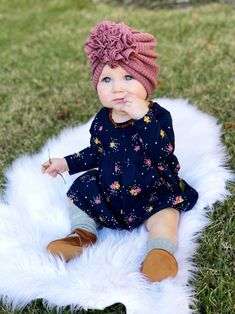 Soft waffle knit ruffle baby turban for newborn, infant, and toddler - Products - Baby Clothes Baby Turban, Cute Baby Girl, Baby Love, Baby Girl Fashion, Kids Fashion, Cute Baby Pictures, Fall Baby, Turbans, Waffle Knit