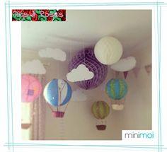 globos aerostaticos de papel decoración habitación bebe - Buscar con Google