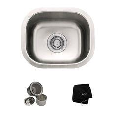 """Found it at Wayfair - 14.5"""" x 13"""" Undermount Single Bowl Kitchen Sink"""