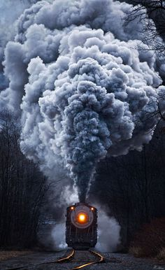 cool train photos | cool-train-night-smoke-darkness
