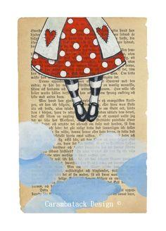 Kom fly med meg - Signert trykk . Art by Annette Mangseth Carambatack Design
