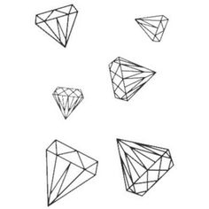 Diamonds on the Inside Wall Decals in Noir