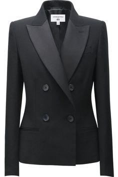 Carine Roitfeld x Uniqlo Black Tuxedo Jacket Mehr Blazer Fashion, Suit Fashion, Look Fashion, Blazers For Women, Suits For Women, Jackets For Women, Women Blazer, Dressy Jackets, Tuxedo Jackets