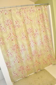 How to make a shower curtain out of a bed sheet (tutorial). I can never find the perfect shower curtain, so this is great...if I ever learn to master a sewing machine.