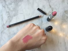 Perfect pink lip by MAC: Edge to Edge lip liner + Please Me lipstick