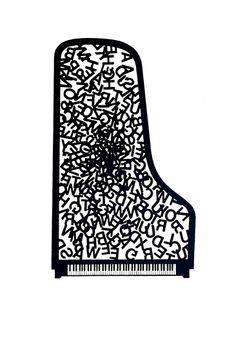 Piano 1982 - Poema visual Serigrafía Editado por Pepa Llopis, Ll. Riera, C. Taché, A. Tàpies y M. Viñas Edición de 15 ejemplares Medida del papel: 50 x 35 cm.