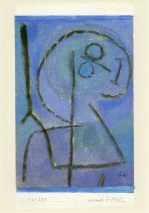 Paul Klee, Nochmals hoffend; Hoping once more, 1939, 1003 / 49,9 x 23,9 cm / Museum Sammlung Rosengart, Luzern
