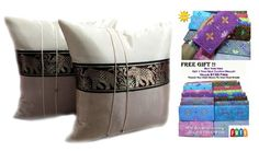 DOUBLE 2 BIG ELEPHANT THROW CUSHION COVERPILLOW CASE SIZE 16 X 16 INCHES -- Learn more by visiting the image link.