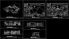 One family housing, villa 4 bedrooms in AUTOCAD DRAWING | BiblioCAD
