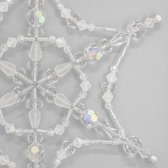 Snowflake Fantasy Ornament | Fusion Beads Inspiration Gallery