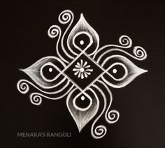 Rangoli Side Designs, Simple Rangoli Border Designs, Easy Rangoli Designs Diwali, Rangoli Simple, Rangoli Designs Latest, Free Hand Rangoli Design, Small Rangoli Design, Rangoli Designs With Dots, Beautiful Rangoli Designs
