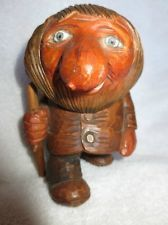 RARE! VINTAGE OTTO SVEEN NORWEGIAN CARVED WOOD TROLL WOODEN NORWAY