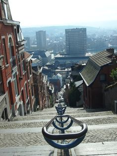 Liege, Belgium - the view above those stairs!