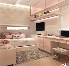 Room Design Bedroom, Girl Bedroom Designs, Room Ideas Bedroom, Home Room Design, Small Room Bedroom, Modern Bedroom, Bedroom Decor, Ikea Bedroom, Small Rooms