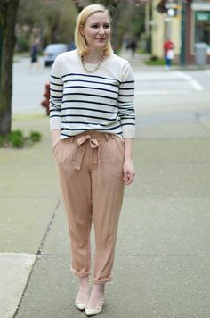 Spring outfit: how to wear drawstring pants / trousers