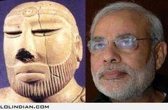Modi sculpture found in mohenjadaro