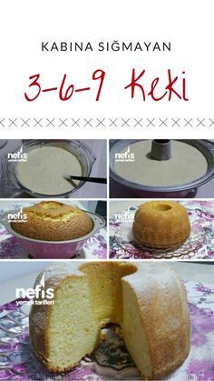 Kabına Sığmayan 3 6 9 Kekim – Nefis Yemek Tarifleri How to make 3 6 9 Cake Recipe that does not fit in the container? Illustrated explanation of this recipe in the book of people and photographs of those who try here Author: Zeliha Turhan Delicious Cake Recipes, Homemade Cake Recipes, Cupcake Recipes, Yummy Cakes, Dessert Recipes, Yummy Food, Dessert Simple, Pasta Cake, Cake Flavors