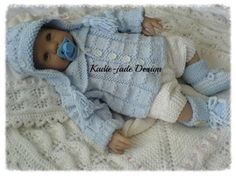 No 102 KADIE-JADE KNITTING PATTERN ~ for that sweet  baby boy ~ KNIT ~ awesome outfit!
