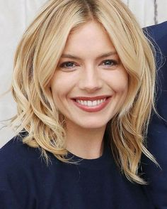 Sienna Millers' layerd cut perfection.