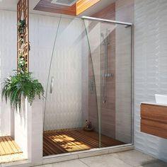 Frameless Sliding Shower Doors, Glass Shower Doors, Sliding Door, Glass Bathroom Door, Hm Deco, Black Shower, Huge Shower, Dream Shower, My New Room