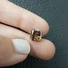 Natural Brown Color Radiant Cut 3.6 Carat SI Natural Loose Enhanced Real Diamond #MyDiamonds Brown Diamonds, Colored Diamonds, Diamond Color Scale, Radiant Cut, Natural Brown, Class Ring, Rings For Men, Fancy, Jewels