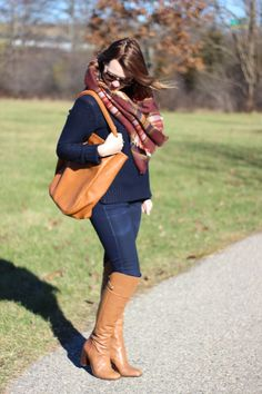 Blanket Scarf, Louise Et Cie Over The Knee Boots