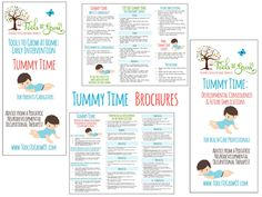 Free Brochures on Tummy Time - Developmental Consequences and Future Implications. Advice from a Pediatric neurodevelopmental occupational therapist.