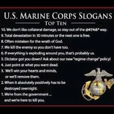 Semper Fi with the utmost respect