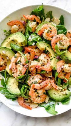 Summer Salad Recipes, Avocado Recipes, Spring Recipes, Summer Salads, Shrimp Salad Recipes, Seafood Salad, Simple Salad Recipes, Pasta Recipes, Avocado Ideas
