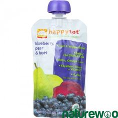 Happy Tot - 1251214 - Toddler Food - Organic - Stage 4 - Blueberry Pear and Beet - 4.22 oz - case of 16
