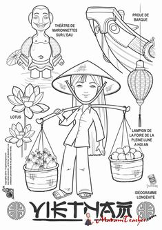 Vietnam paper doll to color Colouring Pages, Coloring Pages For Kids, Adult Coloring, Coloring Books, Kids Colouring, Teaching Geography, World Geography, Vietnam, Harmony Day