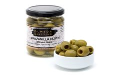 "The Manzanilla olive is the ""queen"" of the Spanish green olives. We prepare them in a simple way: we add water, sea salt and aromatic herbs to enhance their flavour. It is a fleshy and medium sized variety. These olives are present in all Spanish traditional meals, either as a salad, or accompanying a good wine. We present them with stone, without stone, stuffer with red pepper and stuffed with gherkin.  Olives with stone, without stone, stuffed with red pepper and stuffed with gherkin."