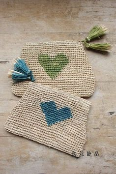 (vía Crochet Pouch Inspiration❥ 4U // hf | Crochet - Carry Me)