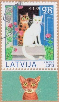 Latvia - Cats on stamps theme, 2013.
