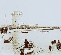 Salonica_1912 by v1858, via Flickr Thessaloniki, Ghosts, Old Photos, Greece, Arch, Europe, Boat, Island, Explore