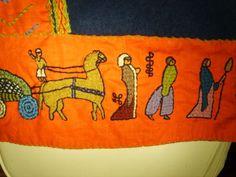 Reisunga Baiuvarii - Coats Viking Embroidery, Embroidery Ideas, Embroidery Applique, Viking Dress, Anglo Saxon, Sweden, Vikings, Celtic, Needlework