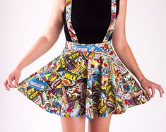Suspenders Marvel Comic Book Circle Skirt- I don't wear skirts but I love dis