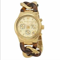 BNWT Michael Kors Tortoise/Gold Chain Link Watch Never been worn! Brand new with tags and box included! Michael Kors Accessories Watches