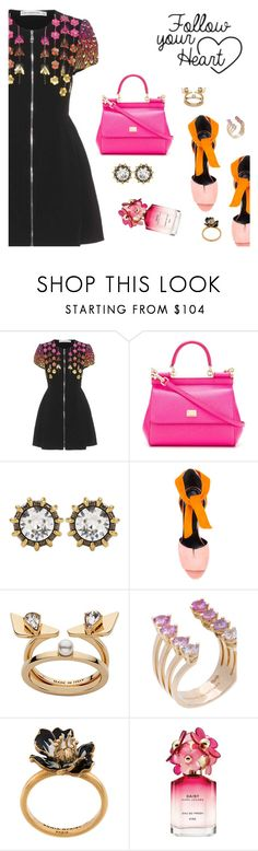 """Outfit of the Day"" by dressedbyrose ❤ liked on Polyvore featuring Mary Katrantzou, Dolce&Gabbana, Gucci, Pierre Hardy, Fendi, Delfina Delettrez, Sonia Rykiel, Marc Jacobs, DCWV and ootd"