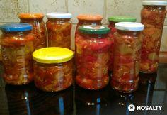 Sült paprika-saláta télire tartósítószer nélkül Stuffed Peppers, Vegetables, Food, Minden, Red Peppers, Stuffed Pepper, Essen, Vegetable Recipes, Meals