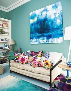Decorate Your Home With These Color Cocktails - Cerulean Splash from #InStyle