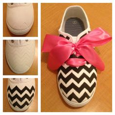 DIY Chevron : DIY chevron Shoes : without the big bow though Diy Organizer, Diy Organization, Diy Storage, Storage Ideas, Cute Crafts, Diy And Crafts, Arts And Crafts, Chevron Shoes, Chevron Bow
