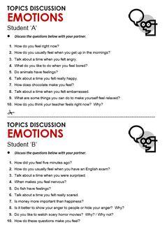 emotions lesson plan for thursdays