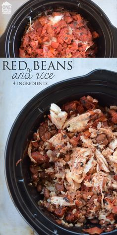Chicken, Beans, and Rice - there is only about half of the recipe there so here's what I figure:   1 lb chicken     1 1/2 cups of wild rice.     1/2 an onion diced     1 can of pinto or red kidney beans     2 cups of chicken broth     1 can of diced tomatoes     Salt and Pepper to taste  4 servings, 440 calories, $6.50