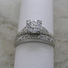 Hey, I found this really awesome Etsy listing at https://www.etsy.com/listing/171798674/platinum-diamond-antique-engagement-ring