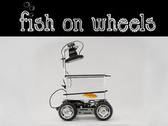Mobile wheeled fish tank controlled by your fish! Now your fish can be a more interactive part of your life and follow you around the house or go anywhere it wants. The device is an Arduino microcontroller steered vehicle that utilizes computer vision technology to track and respond to the fish's movement and position within the tank, thus steering the tank in the direction the fish wants to go. Click the link, watch the video!