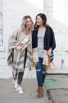 Two ways to style an oversized kimono.